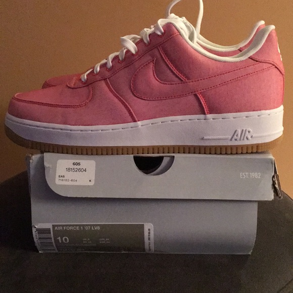 Men\u2019s Nike Red Air Force 1 \u201807 LV8 Sneakers Sz 10 NWT